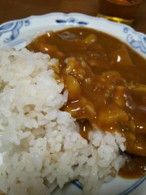 麦の膳ご飯でカレーライス
